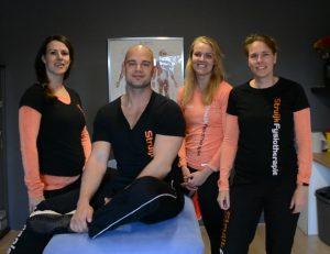 Over ons: een foto van het team van Struijk Fyisotherapie